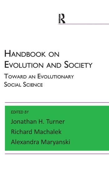 Handbook on Evolution and Society Toward an Evolutionary Social Science book cover
