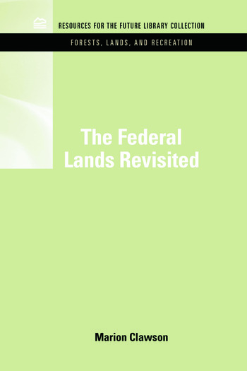 RFF Forests, Lands, and Recreation Set book cover