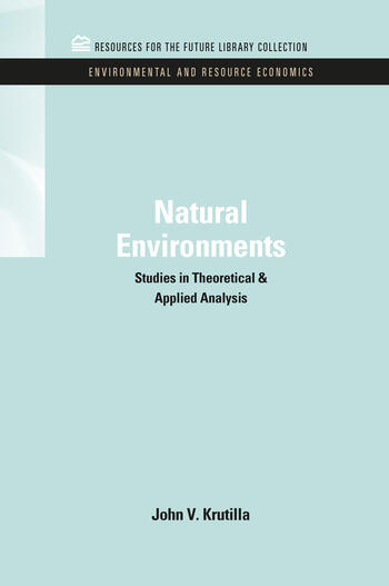 Natural Environments Studies in Theoretical & Applied Analysis book cover