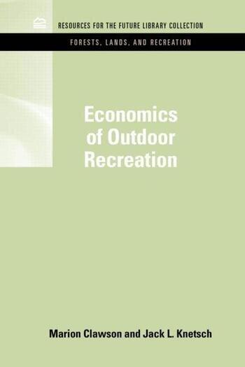 Economics of Outdoor Recreation book cover
