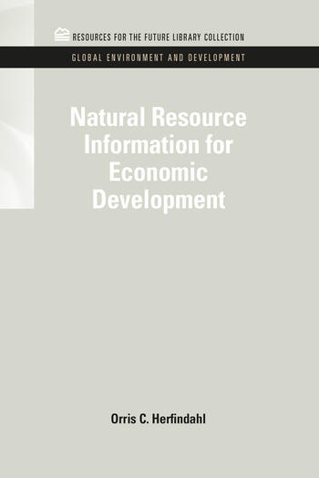 Natural Resource Information for Economic Development book cover