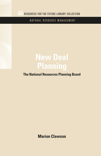 New Deal Planning The National Resources Planning Board book cover