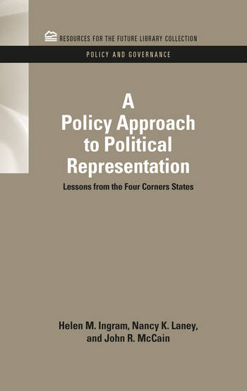 A Policy Approach to Political Representation Lessons from the Four Corners States book cover
