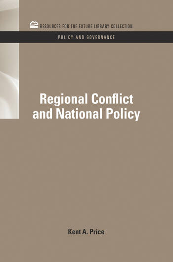Regional Conflict and National Policy book cover