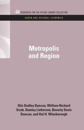 Metropolis and Region book cover