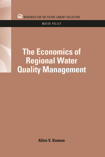 The Economics of Regional Water Quality Management book cover