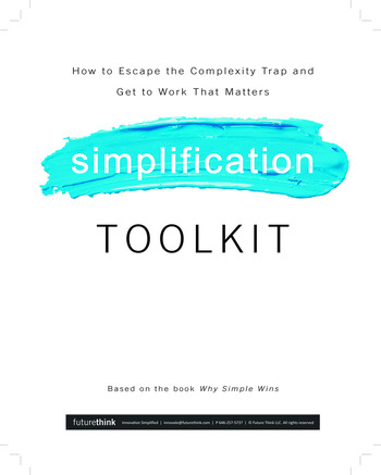 Why Simple Wins Toolkit book cover