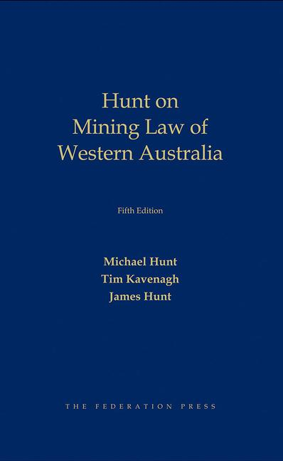 Mining Law in Western Australia book cover