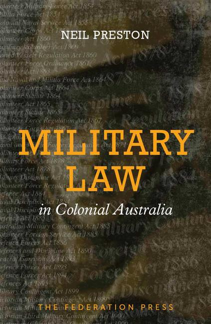 Military Law in Colonial Australia book cover