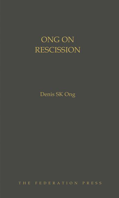 Ong on Rescission book cover