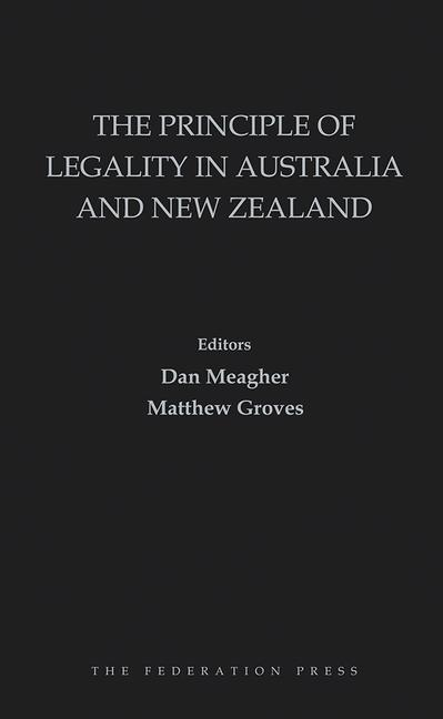 The Principle of Legality in Australia and New Zealand book cover