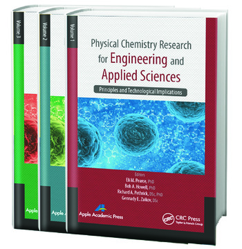 Physical Chemistry Research for Engineering and Applied Sciences - Three Volume Set book cover