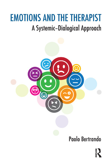 Emotions and the Therapist A Systemic-Dialogical Approach book cover