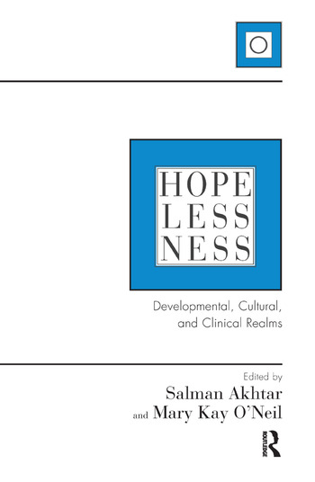 Hopelessness Developmental, Cultural, and Clinical Realms book cover