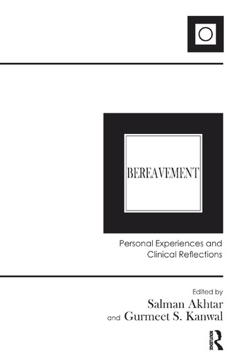 Bereavement Personal Experiences and Clinical Reflections book cover