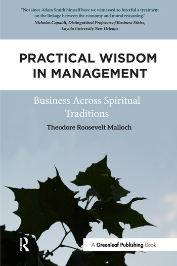 Practical Wisdom in Management Business Across Spiritual Traditions book cover