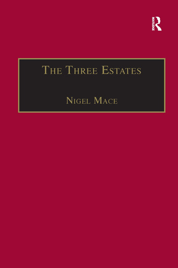 The Three Estates A Pleasant Satire in Commendation of Virtue and in Vituperation of Vice book cover