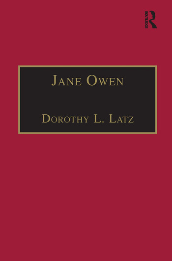Jane Owen Printed Writings 1500–1640: Series I, Part Two, Volume 9 book cover
