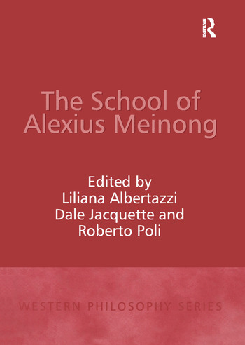 The School of Alexius Meinong book cover