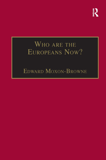 Who are the Europeans Now? book cover