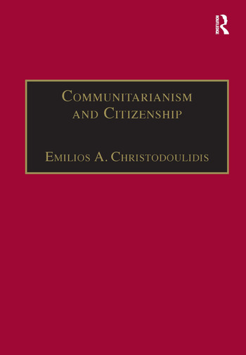 Communitarianism and Citizenship book cover