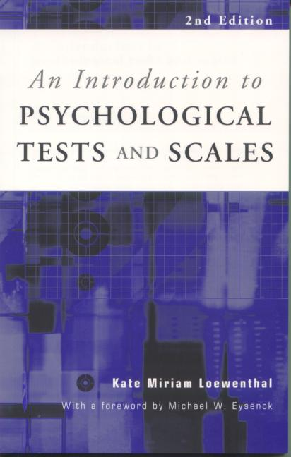 An Introduction to Psychological Tests and Scales book cover
