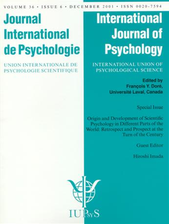 Origin and Development of Scientific Psychology in Different Parts of the World: Retrospect and Prospect at the Turn of the Century A Special Issue of the International Journal of Psychology book cover