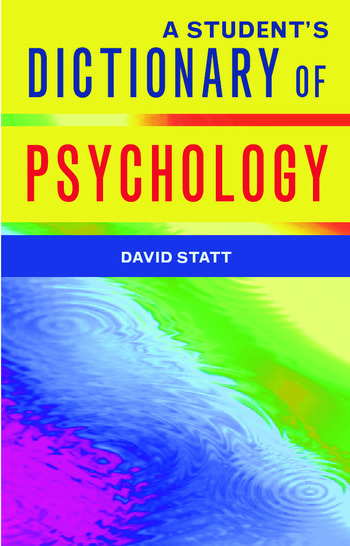 A Student's Dictionary of Psychology book cover