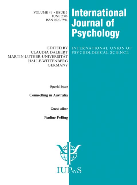 Counselling in Australia A Special Issue of the International Journal of Psychology book cover
