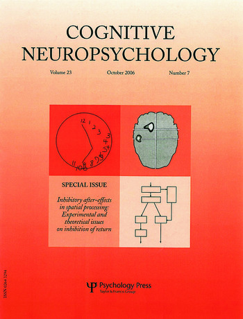 Inhibitory After-Effects in Spatial Processing: Experimental and Theoretical Issues on Inhibition of Return A Special Issue of Cognitive Neuropsychology book cover