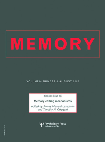 Memory Editing Mechanisms A Special Issue of Memory book cover