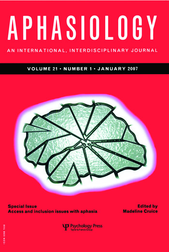 Access and Inclusion Issues with Aphasia A Special Issue of Aphasiology book cover