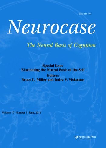 Elucidating the Neural Basis of the Self A Special Issue of Neurocase book cover