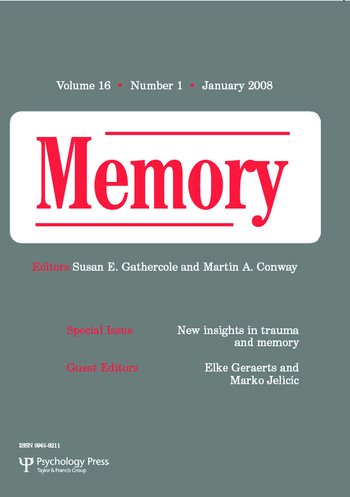 New Insights in Trauma and Memory A Special Issue of Memory book cover