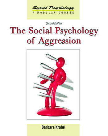 The Social Psychology of Aggression 2nd Edition book cover