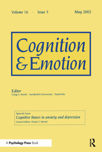 Cognitive Biases in Anxiety and Depression A Special Issue of Cognition and Emotion book cover