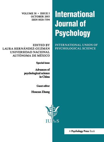 Advances of Psychological Science in China A Special Issue of the International Journal of Psychology book cover