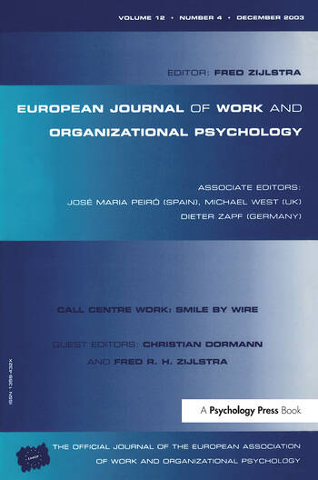 Call Centre Work: Smile by Wire A Special Issue of the European Journal of Work and Organizational Psychology book cover