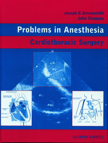 Cardiothoracic Surgery Problems in Anesthesia book cover