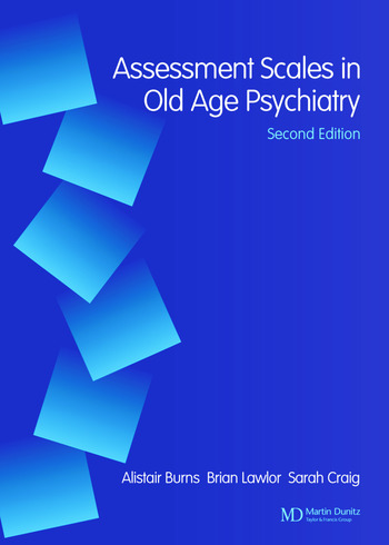 Assessment Scales in Old Age Psychiatry book cover
