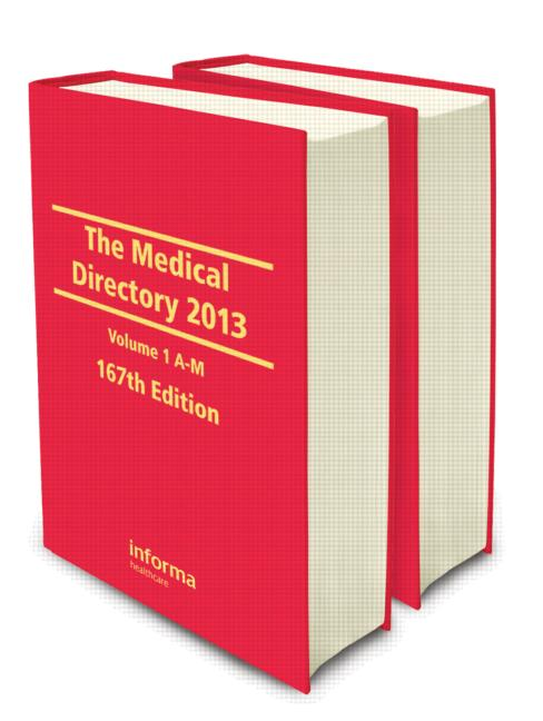 The Medical Directory 2013 book cover