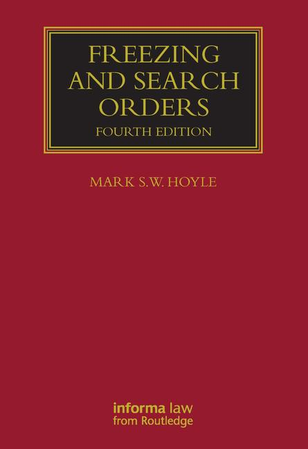 Freezing and Search Orders book cover