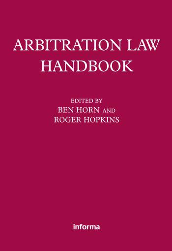 Arbitration Law Handbook book cover