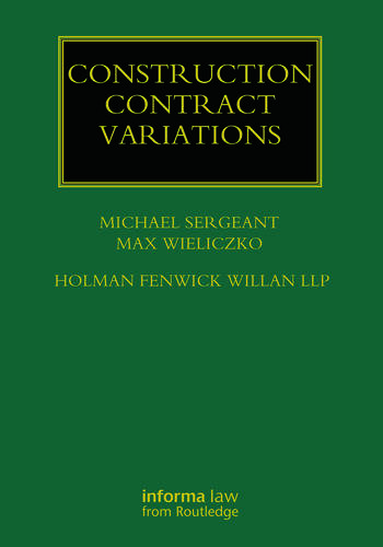 Construction Contract Variations book cover