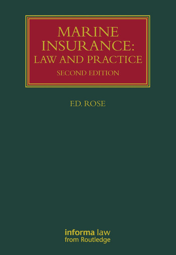 Marine Insurance Law and Practice book cover