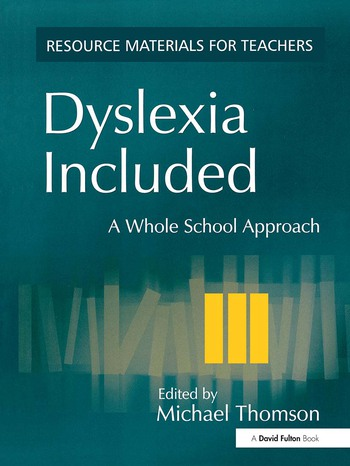 Dyslexia Included A Whole School Approach book cover