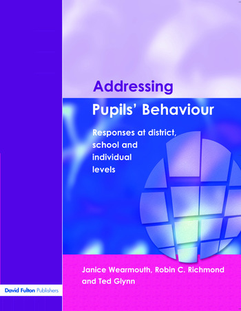 Addressing Pupil's Behaviour Responses at District, School and Individual Levels book cover