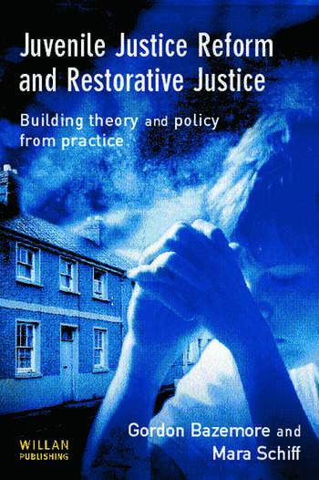 Juvenile Justice Reform and Restorative Justice book cover