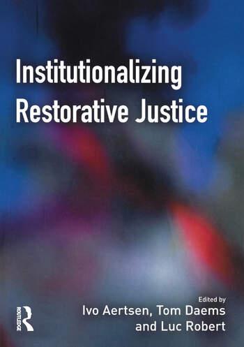 Institutionalizing Restorative Justice book cover