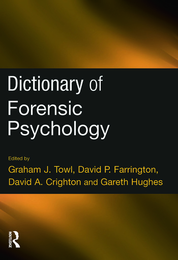 Dictionary of Forensic Psychology book cover